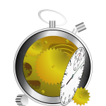Vector illustration of broken manual stopwatch