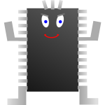 Computer processor character vector image