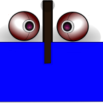 Two webcams in face-like vector drawing