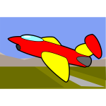 Cartoon image of an aircraft