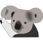 Vector graphics of koala bear in color