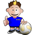 Cartoon soccer player vector drawing