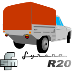 Syrena Pick-up Car Vector