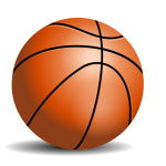 Vector drawing of basketball ball