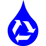 Recycle water (blue)