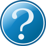 Button with question mark vector image