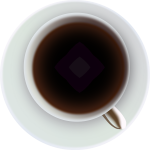 Vector image of coffee or tea in cup
