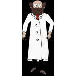 Bearded scientist vector image