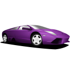 Purple Lamborghini vector image