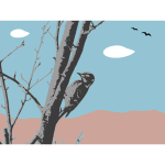Landscape with woodpecker