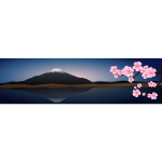 Japan evening landscape vector image