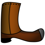 Brown boot vector image