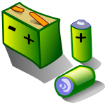 Illustration of batteries and accumulator