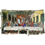 Last supper vector illustration