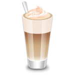 Vector clip art of cup of caffee Latte