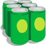 Canned drink vector graphic