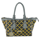 leather patterned bag