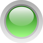 Finger size green button vector clip art