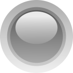 Finger size gray button vector graphics