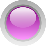 Finger size purple button vector illustration