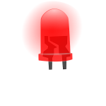Red LED lamp image