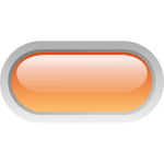 Pill shaped orange button vector graphics