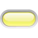 Pill shaped yellow button vector illustration