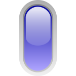 Upright pill shaped blue button vector graphics