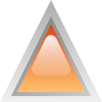 Orange led triangle vector illustration