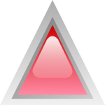 Red led triangle vector image