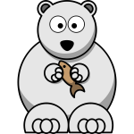 Vector image of lemmings style polar bear