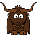 Cartoon vector illustration of a bovine
