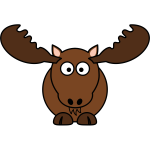 Cartoon moose vector image