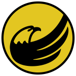 Circle logo with an eagle