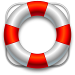 vector image of lifesaver
