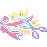 Scissors and ribbon