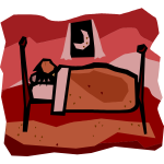Vector illustration of person sleeping