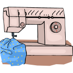 Sewing machine vector drawing
