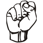 Raised fist vector clip art