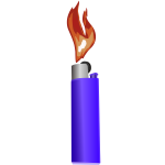 lighter with flame export
