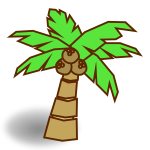 Coconut tree symbol