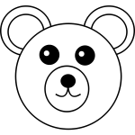 Teddy bear vector line art image
