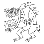 Ugly monster vector
