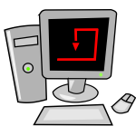 Personal computer icon verctor graphics vector