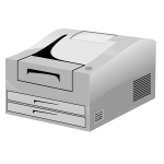 Laser Printer ln vector image