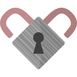 Lock heart vector image