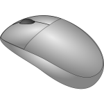 Cordless mouse vector drawing