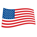 logo USA flag wave