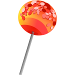 Vector clip art of colored candy