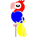 Cartoon image of a macaw